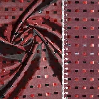 Віскоза жак. т / червона в чорно-червоні квадрати ш.145