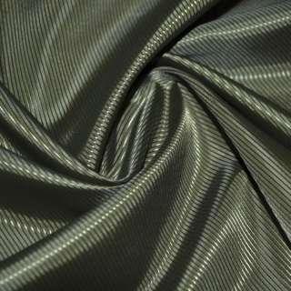 Ткань подкладочная полиэстер диагональ болотная ш.145