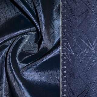 Жаккард атласный в росчерк синий