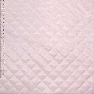 "ткань подкладочная стеган. бледно-розовая ""квадрат"" ш.150"