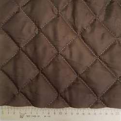Тканина підкладкова термостьобана коричнева (синтепон 100), ш.150