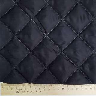 Ткань подкладочная термостеганая синяя темная (синтепон 100), ш.150
