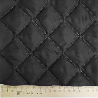 Ткань подкладочная термостеганая черная (синтепон 100), ш.150