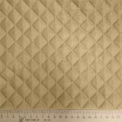 Тканина підкладкова термостьобана бежева (синтепон 100), ш.150