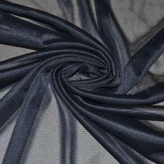 Ткань подкладочная трикотажная синяя темная ш.160