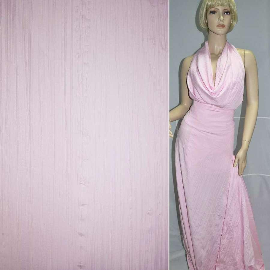 Поплин жатый розовый ш.140