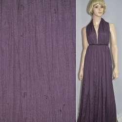 Поплин жатый фиолетовый темный ш.140