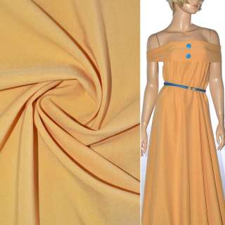 Поплин стрейчевый желто-персиковый ш.150