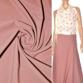 Поплін стрейчевий рожево-сірий ш.150