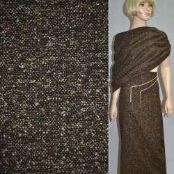 Букле коричнево-черное с золотым люрексом ш.150
