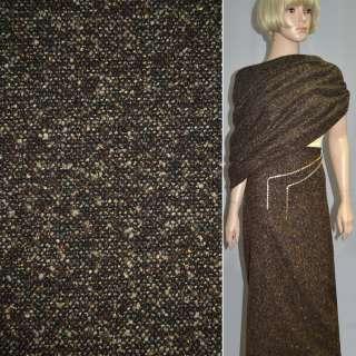 Букле коричнево-чорне із золотим люрексом ш.150
