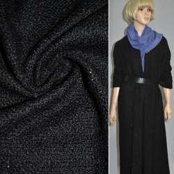 Букле черное с разноцветным люрексом ш.150