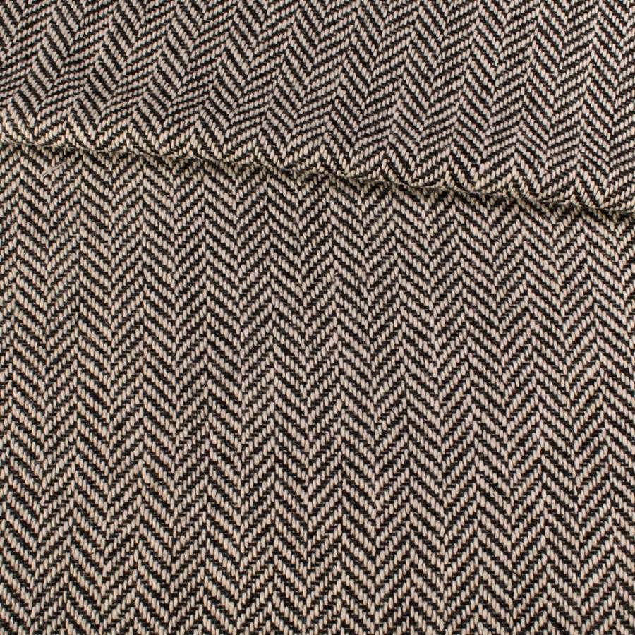 Букле черно-белое в крупную елочку, ш.150