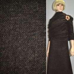Букле коричнево-черное с мохером ш.150
