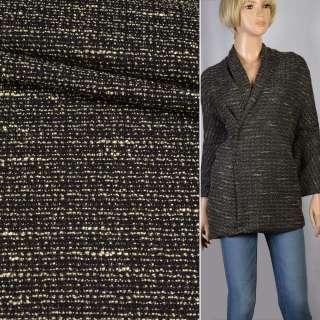 Шанель рогожка черная с желтыми штрихами ш.150
