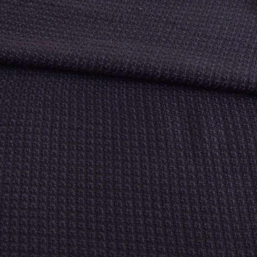 Рогожка синяя темная ш.150