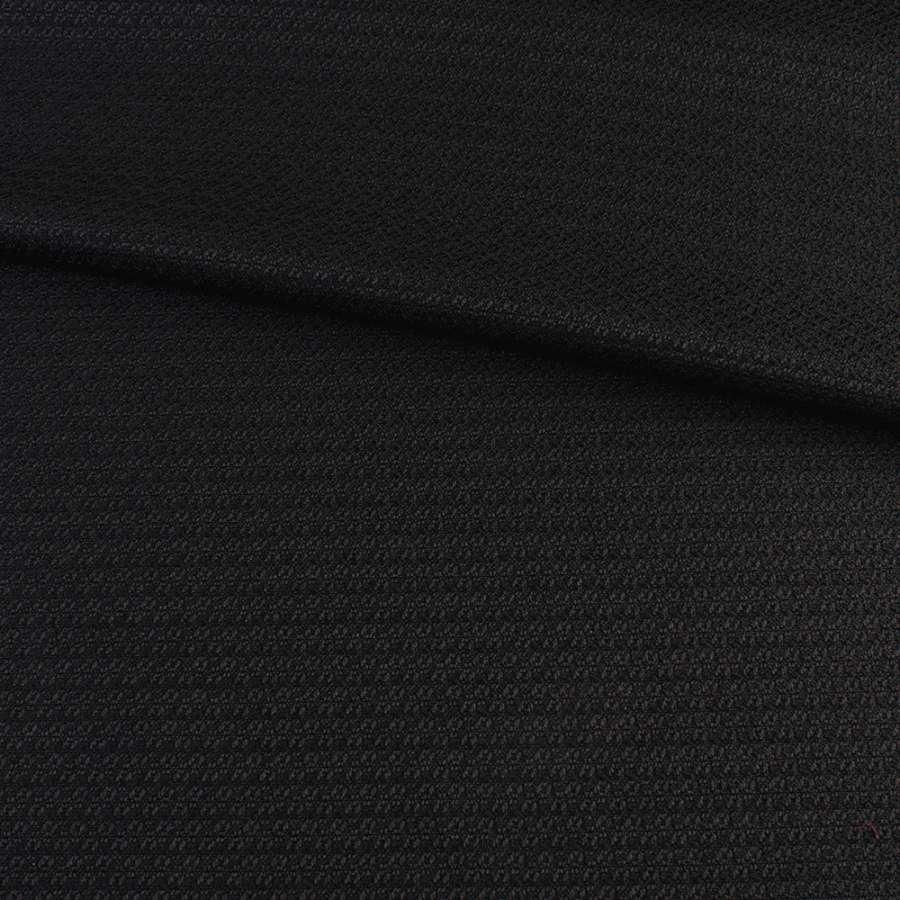Рогожка стрейч черная, ш.150