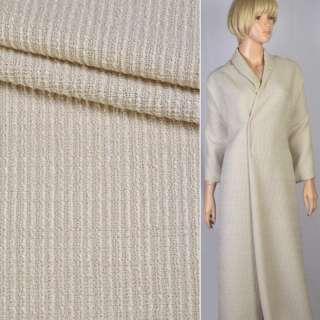 Рогожка-букле молочная крупное плетение ш.150