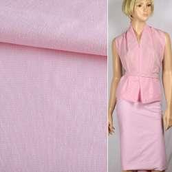 Тканина сорочкова стрейч біло-рожева ш.143
