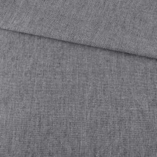 Ткань рубашечная черная меланж ш.145