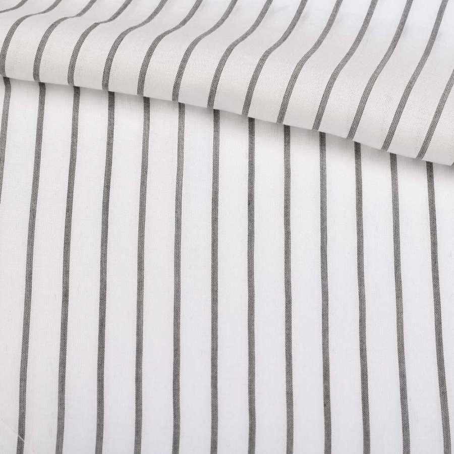 Віскоза сорочкова біла в чорну смугу 10 * 1мм ш.147