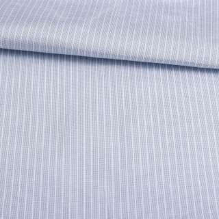 Поликоттон блакитний в білу смугу 4 * 1мм ш.143