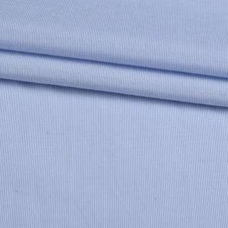 Поплін сорочковий в білу, блакитну смужку 0,5 * 0,5 ш.145