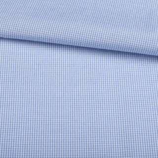 Поплін сорочковий в біло-блакитну смугу 1 * 1мм ш.145