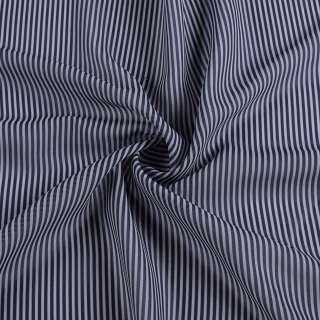 Ткань рубашечная в сине-серую полоску 2мм, ш.150