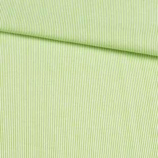 Поплін сорочковий в білу, зелену смужку 0,5 * 0,5 ш.145