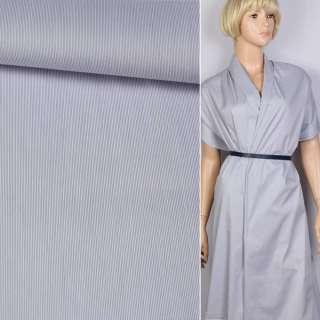 Поплін сорочковий в біло-сіру смужку 0,5 * 0,5 мм ш.125