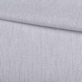 Поплін сорочковий білий в сіру смугу 2 * 1мм ш.145