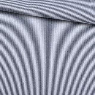 Поплин рубашечный в белую, синюю мелкую полоску 1*1мм ш.145