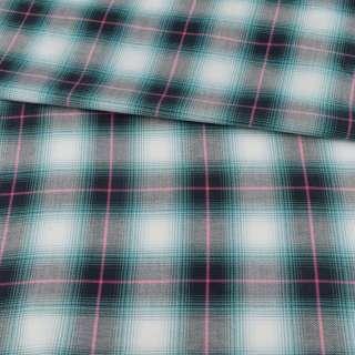 Шотландка в бірюзово-білу клітинку ш.150