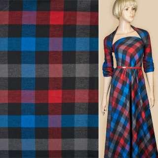 Шотландка черная в красно-синюю клетку ш.150