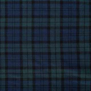 Шотландка синяя темная в темно-бирюзовую клетку ш.145