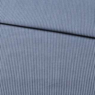 Тканина сорочкова * синя в тонку білу смужку, ш.150