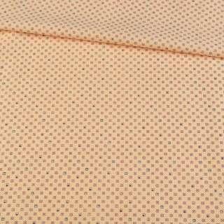 Коттон сорочковий пшеничний в дрібний візерунок, ш.142
