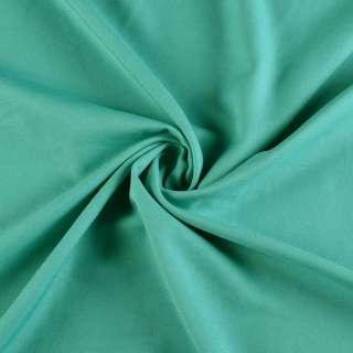 Поликоттон стрейч бирюзово-зеленый, ш.153