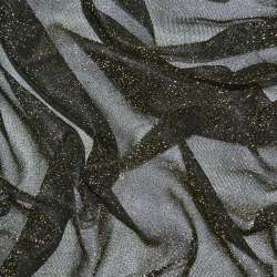 Трикотаж черный с золотым люрексом ш.110