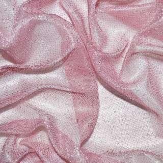 Трикотаж бледно-розовый с метанитью ш.110