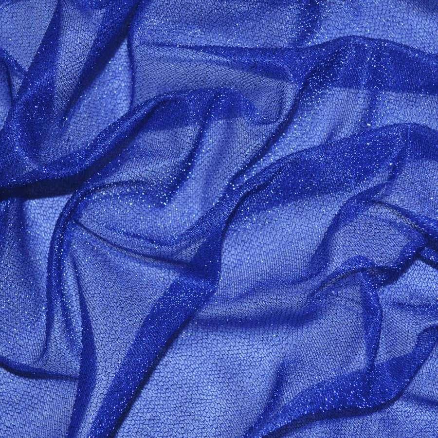 Трикотаж синий с метанитью ш.115