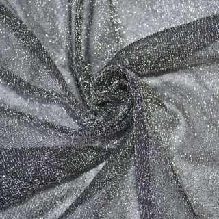 Трикотаж черный с серебрянной метанитью ш.115