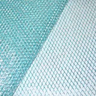 сетка голубая с серебр. люрексом (жесткая, крупная) ш.160