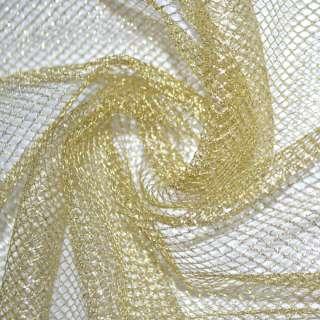 сетка с люрексом золотистая средн. ячейки ш.150