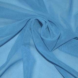 Сетка стрейчевая плотная голубая (насыщ.) ш.160