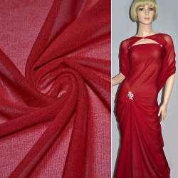 Сітка стрейчева щільна червона (відтінок темніше) ш.160