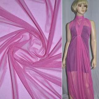Сітка стрейчева щільна рожева дрібна