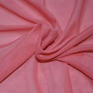 Сетка стрейчевая плотная розовая темная ш.160