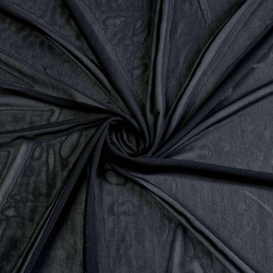 Сетка стрейчевая плотная черная ш.160